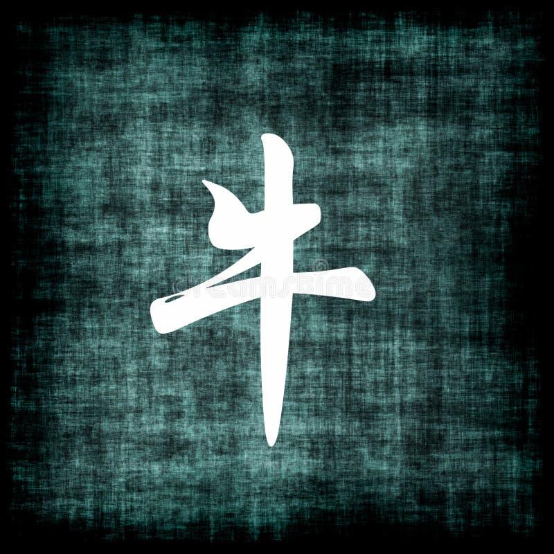 中国黄牛符号黄道带 库存例证