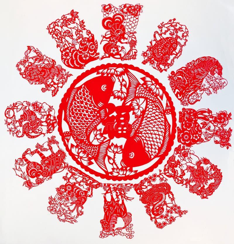 中国黄道带 库存图片