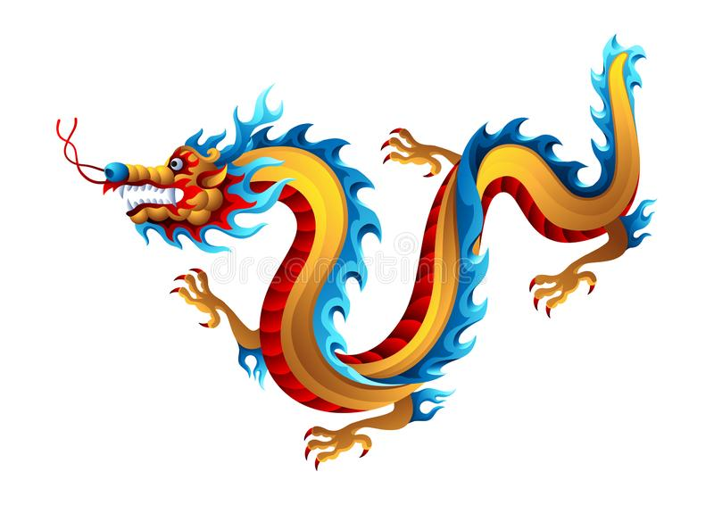 中国龙的例证 向量例证