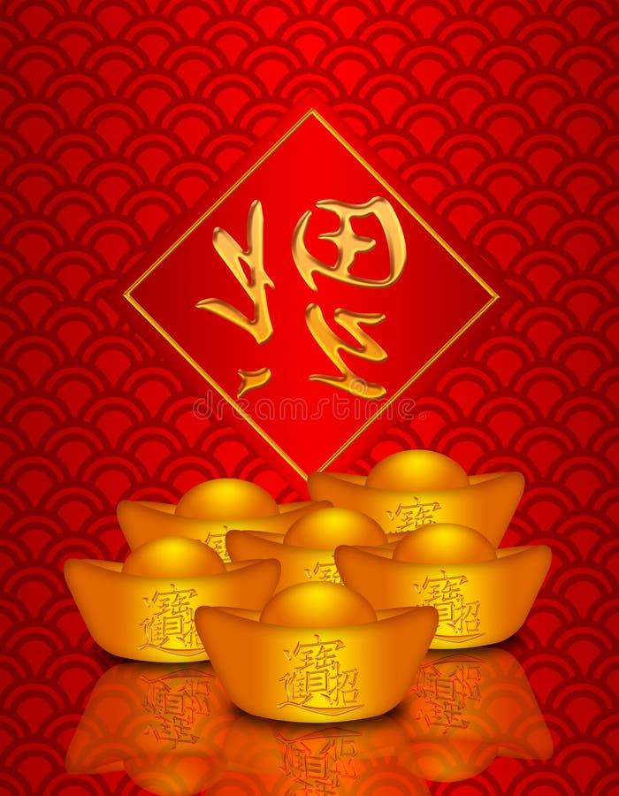 中国龙金货币模式缩放比例 皇族释放例证