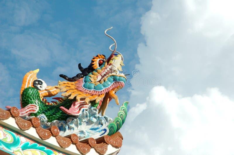 中国龙雕象样式 图库摄影