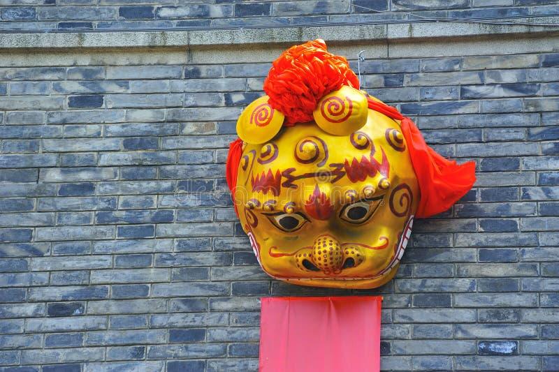 中国龙面具 库存图片