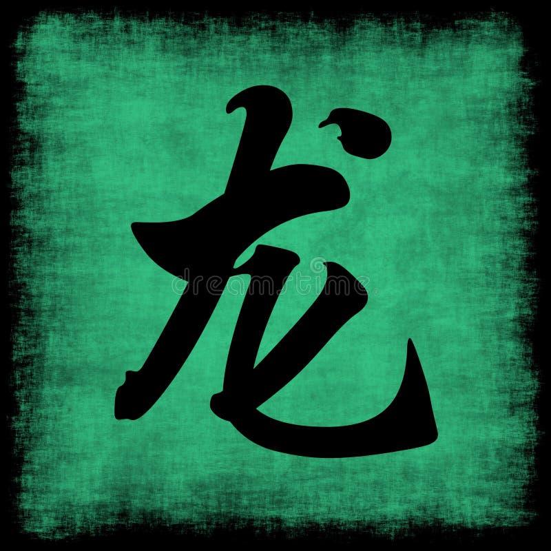 中国龙黄道带 库存例证