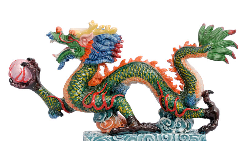 中国龙 免版税图库摄影