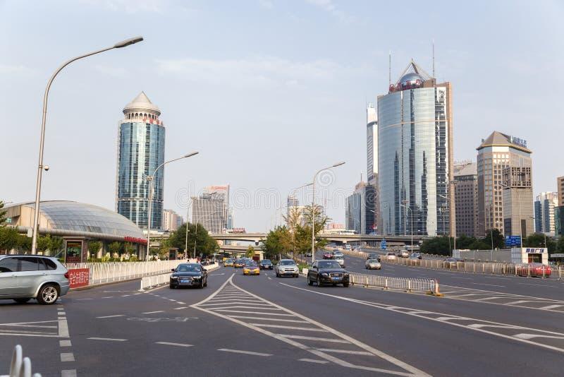 中国,北京 高层现代大厦和大道- 6 免版税库存照片