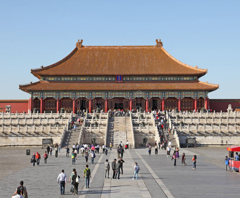 中国 北京 禁止的城市 明代和清朝的皇家宫殿在北京和沈阳 免版税库存图片