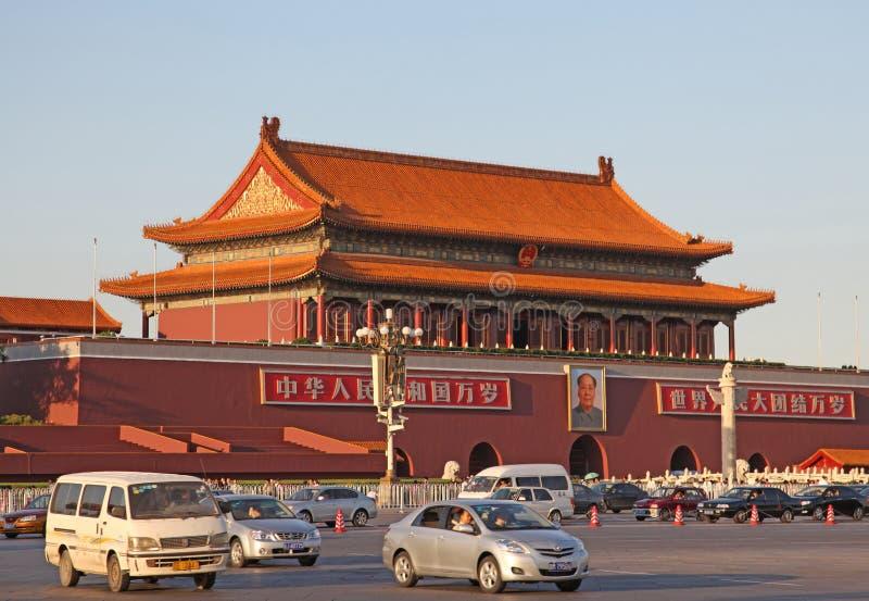 中国 北京 禁止的城市 神的威力门 免版税图库摄影