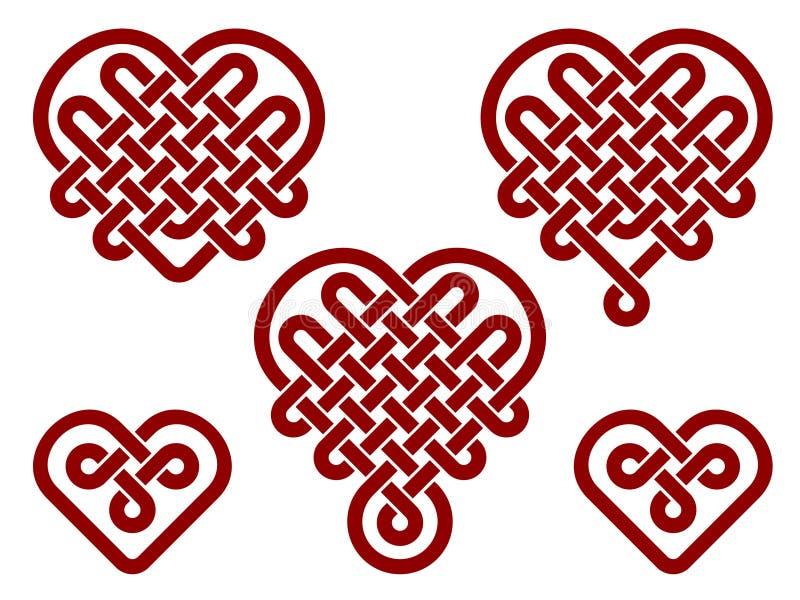 download 中国结以心脏的形式 向量例证.