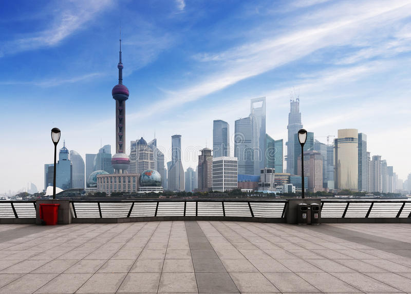中国财政区都市风景 库存图片