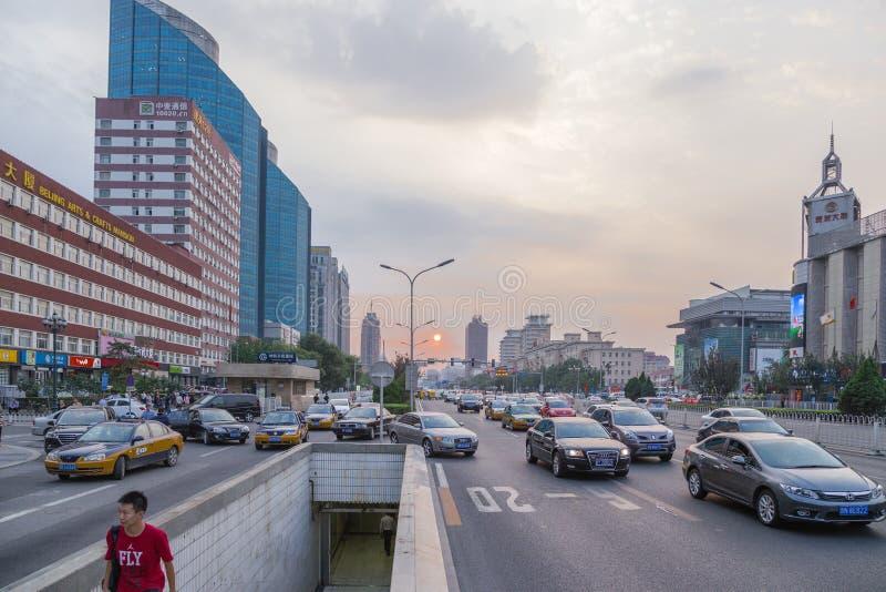 中国 日落在北京- 2 免版税库存图片