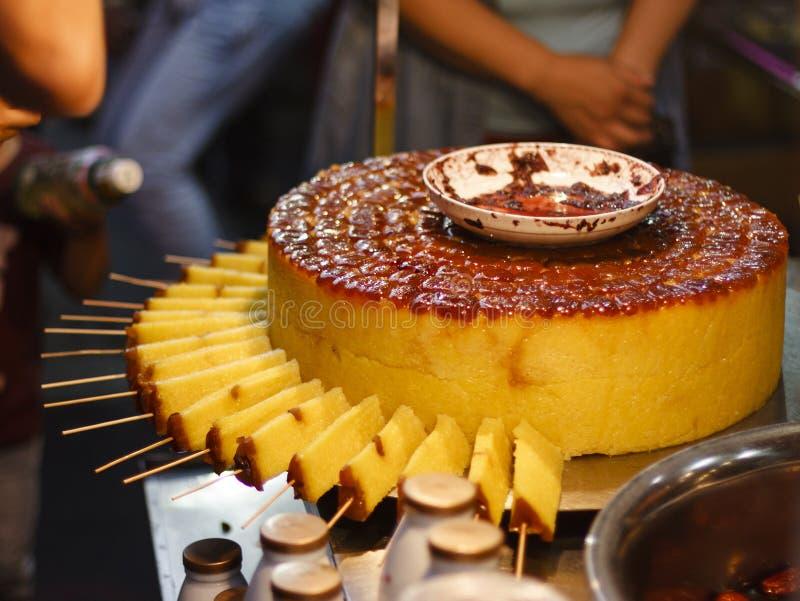 中国黏米饭蛋糕 免版税库存照片