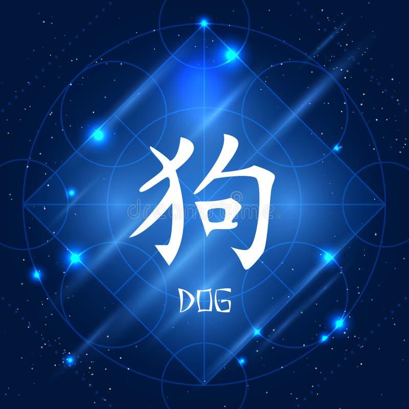 中国黄道带标志狗 皇族释放例证