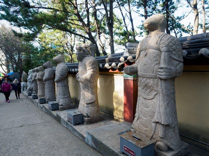 中国黄道带标志雕象 免版税图库摄影