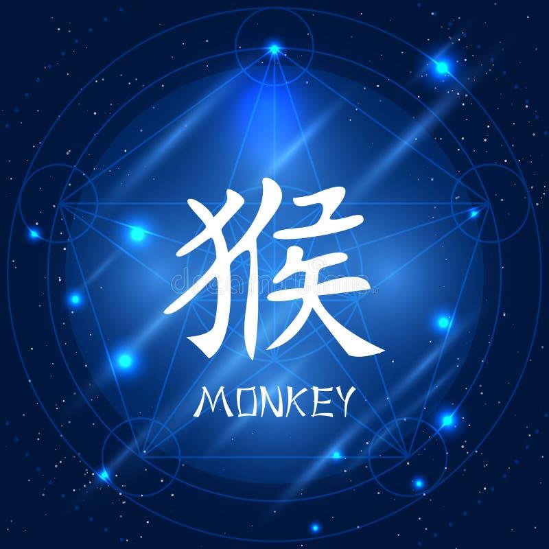 中国黄道带标志猴子 皇族释放例证