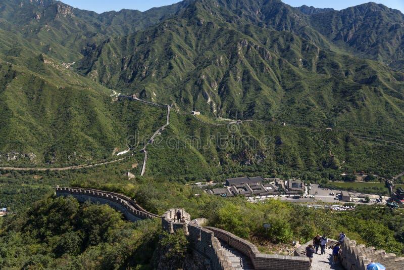 中国 长城的看法,环境前哨基地居庸关 免版税图库摄影