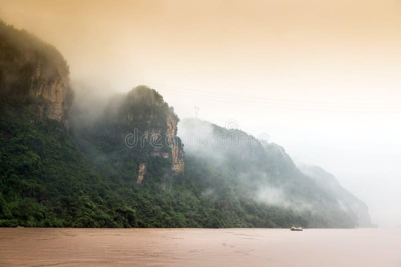 中国` s最大的河:扬子 免版税库存照片