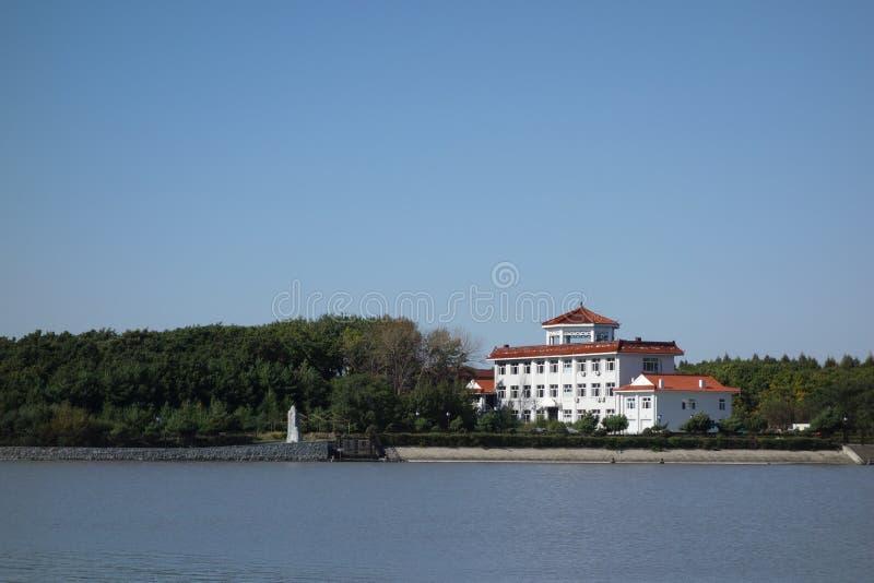 中国` s鸡西城市,黑龙江心情Kai湖 免版税图库摄影