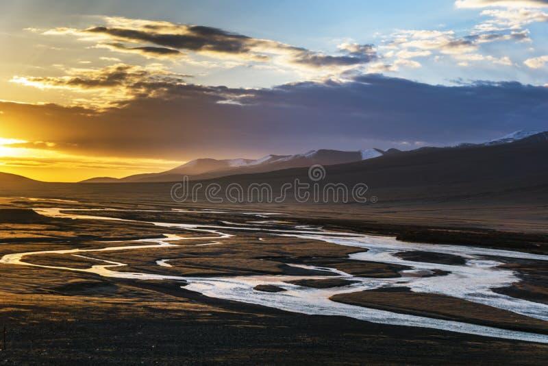 中国Bayinbuluke草原在新疆 免版税图库摄影