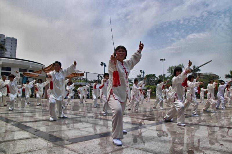 中国fu kung性能 库存照片