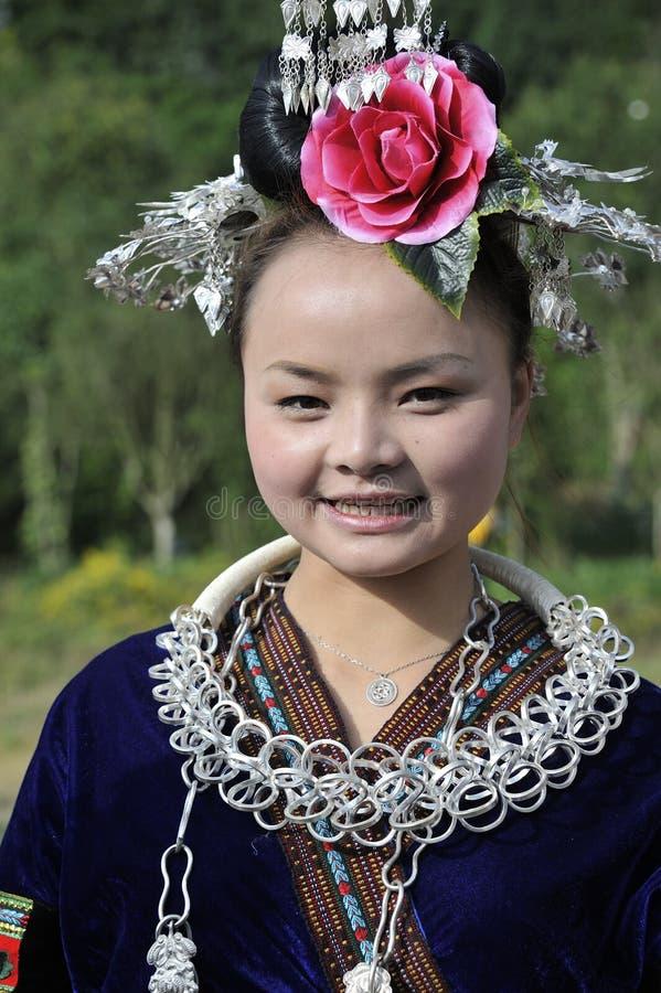 中国Miao国籍妇女 免版税库存图片