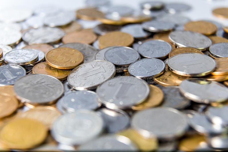 中国RMB硬币 图库摄影