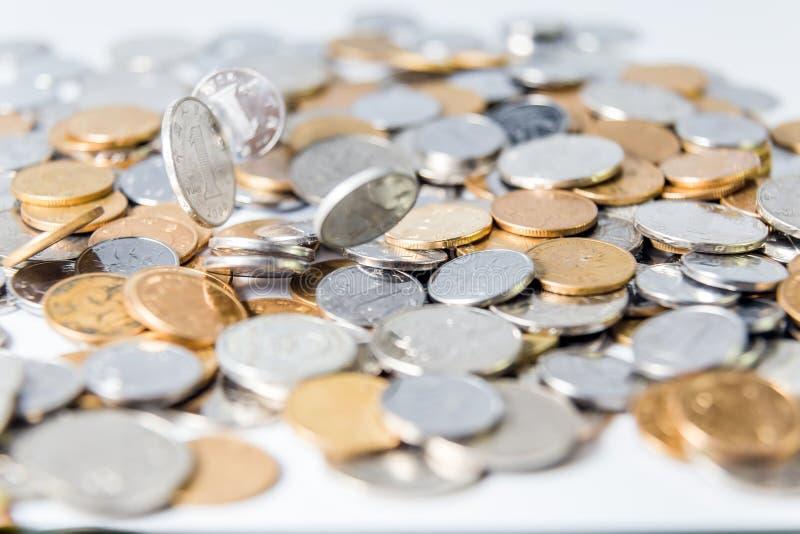 中国RMB硬币 库存照片
