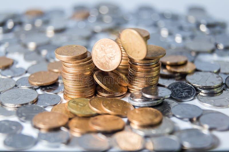 中国RMB硬币 库存图片