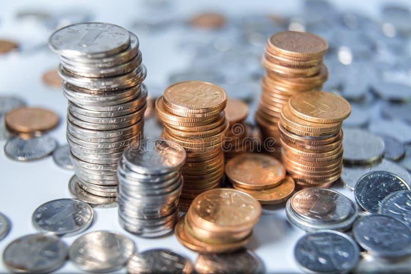 中国RMB硬币 免版税库存图片