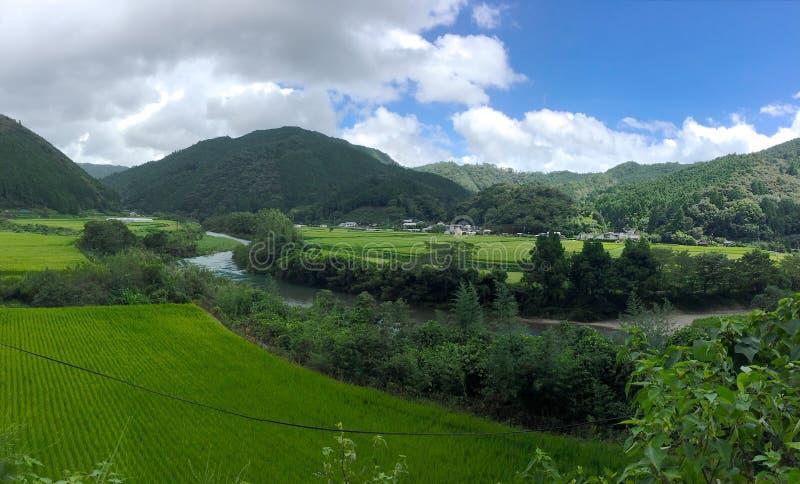 中土佐地区典型的日本乡下在Shinkoku海岛,日本上的 库存图片