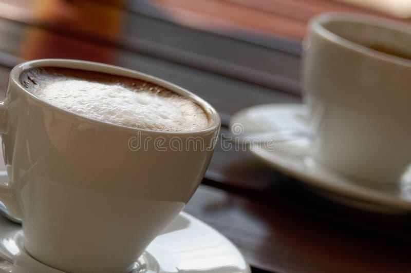 中坚分子令人敬畏的浓两的咖啡 免版税图库摄影