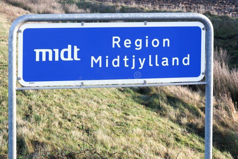 中央丹麦地区路标丹麦 免版税图库摄影