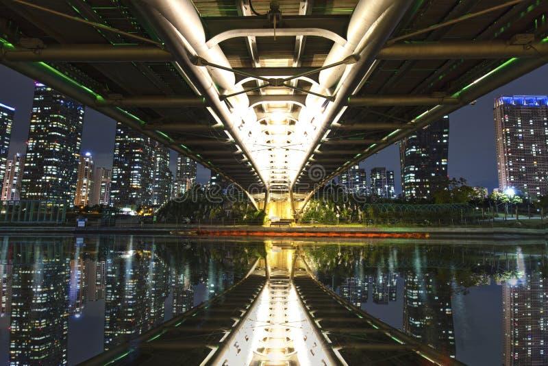 中央公园在松岛国际都市 免版税库存图片