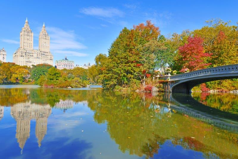 中央公园在秋天,纽约 免版税库存图片