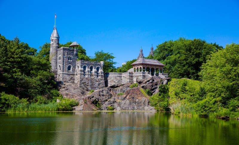 中央公园眺望楼城堡 免版税库存图片