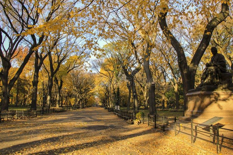 中央公园纽约秋天 图库摄影