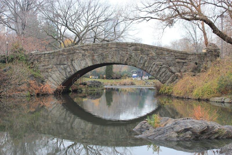 中央公园老桥梁 免版税库存图片