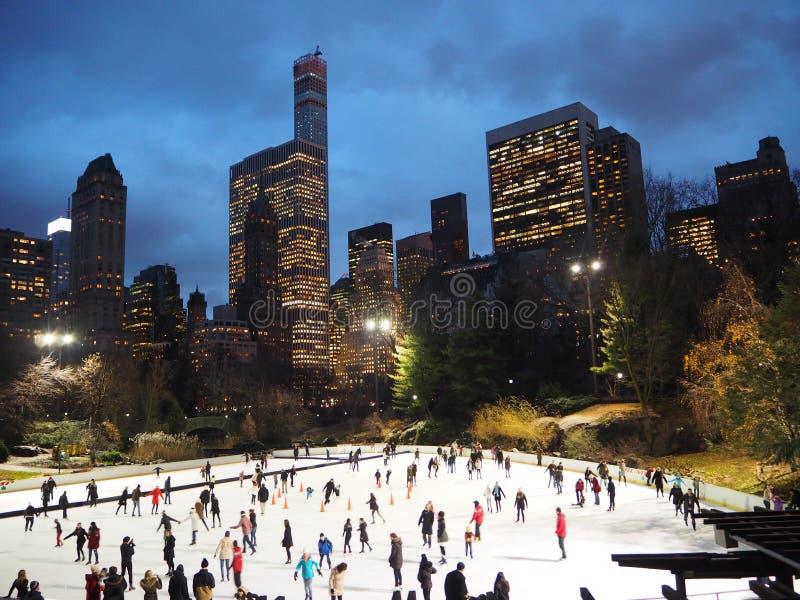 中央公园滑冰场纽约 免版税库存照片