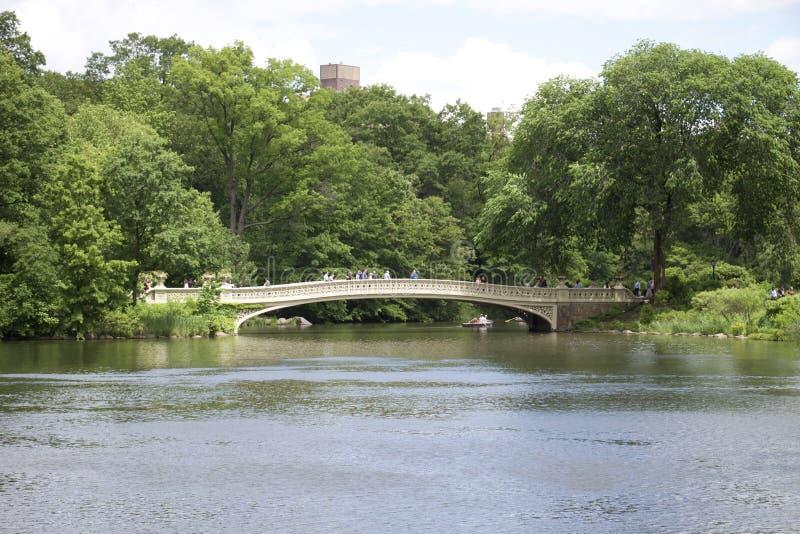 中央公园-纽约-亲吻的桥梁在中央公园 库存图片