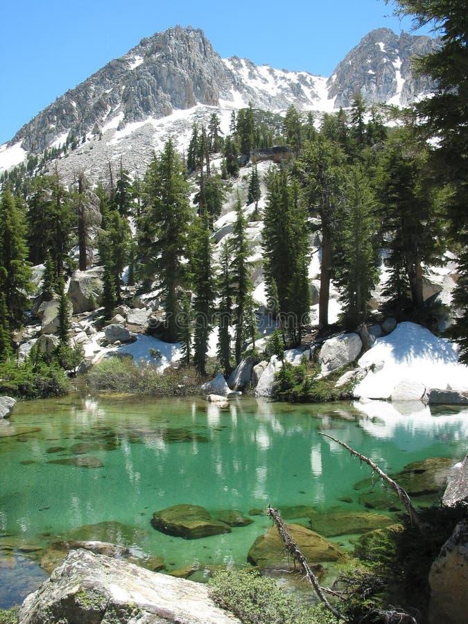 中央冰河湖山脉 库存图片