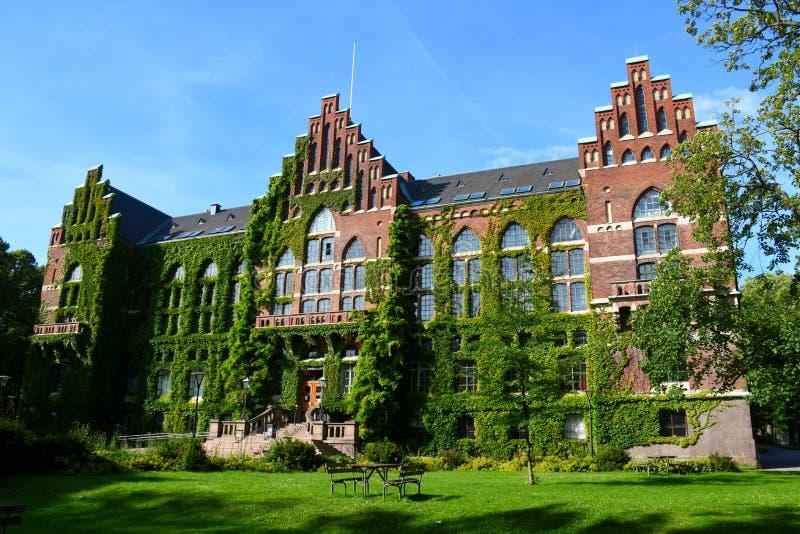 中央图书馆在隆德大学 免版税库存照片