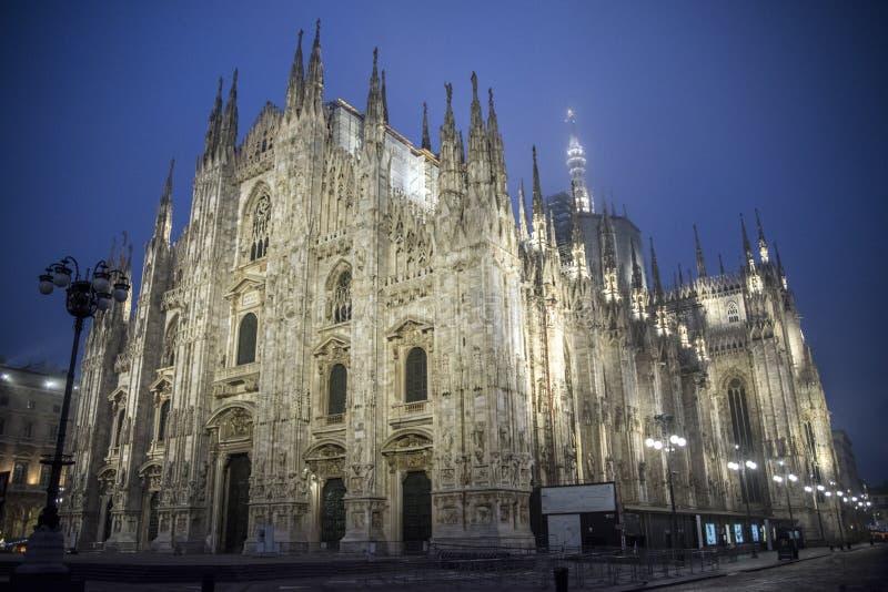 中央寺院意大利米兰广场 库存图片
