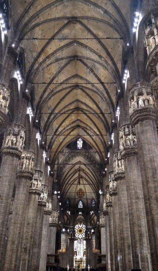 中央寺院米兰大教堂讲坛 免版税库存照片