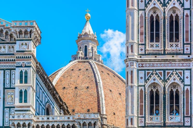 中央寺院细节在佛罗伦萨,意大利 图库摄影