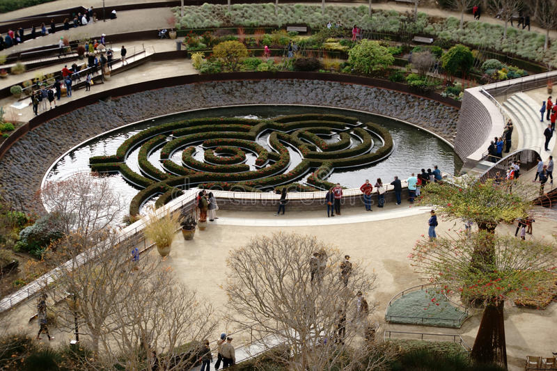 中央庭院格蒂中心 库存照片