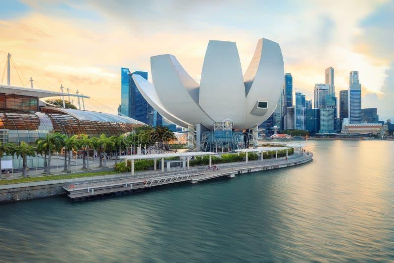 中央新加坡看法  免版税库存照片