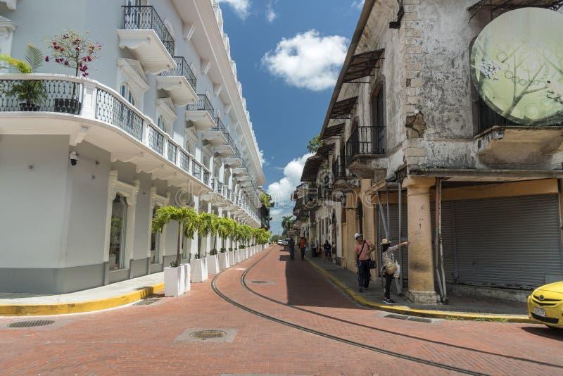 中央旅馆Panamà ¡奥尔德敦巴拿马市 免版税图库摄影