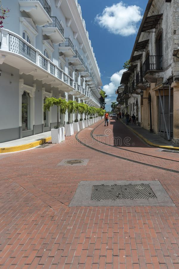 中央旅馆Panamà ¡奥尔德敦巴拿马市 免版税库存照片