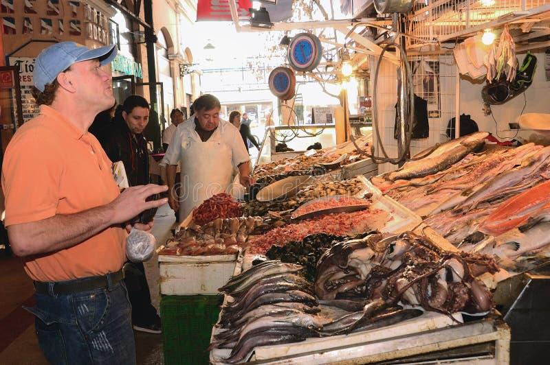 中央智利市场圣地亚哥 免版税库存图片
