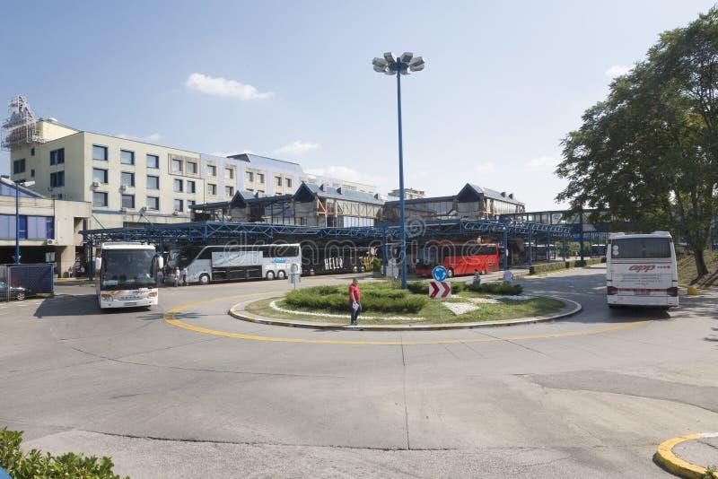 中央汽车站在萨格勒布,克罗地亚 免版税库存图片