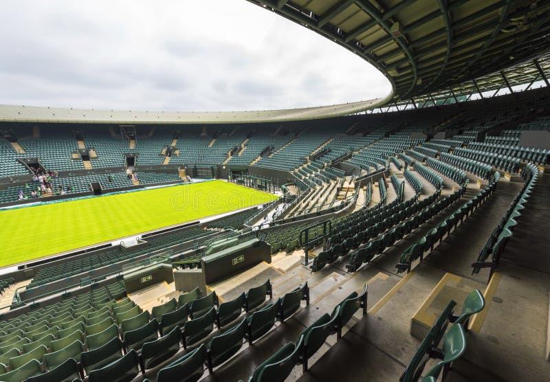 中央法院在Wimbledon地方 库存照片
